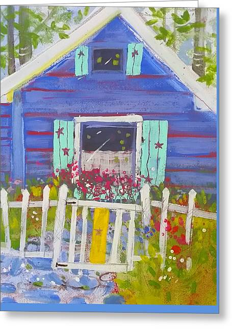 Fish Camp Cottage Greeting Card