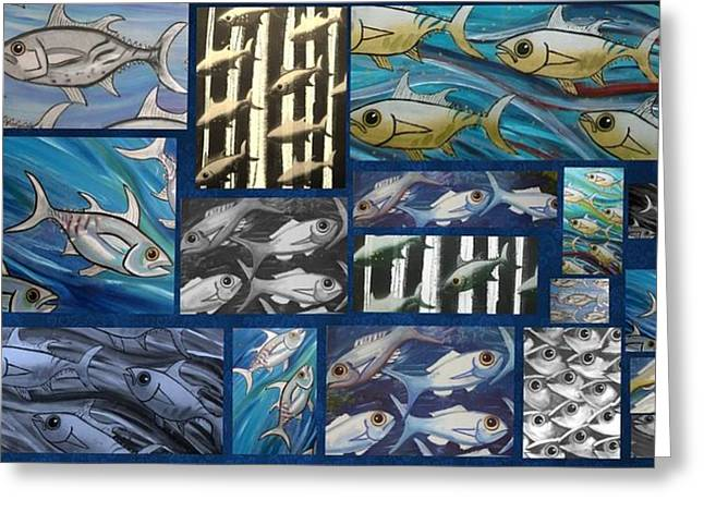 Fish Collage Greeting Card