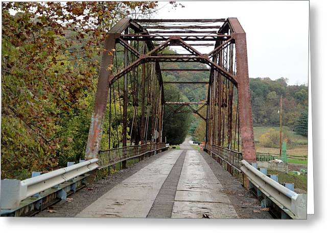 Fish Creek Bridge Greeting Card by Terry  Wiley