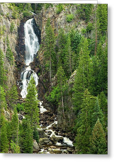 Fish Creek Falls Greeting Card by Adam Pender