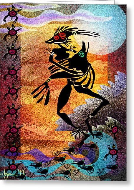 Fish Dance Greeting Card