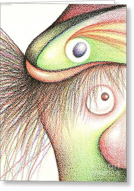 Fish Head Greeting Card
