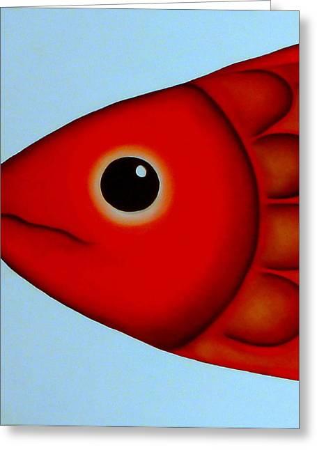 Fish Head Greeting Card by Georgie Greene