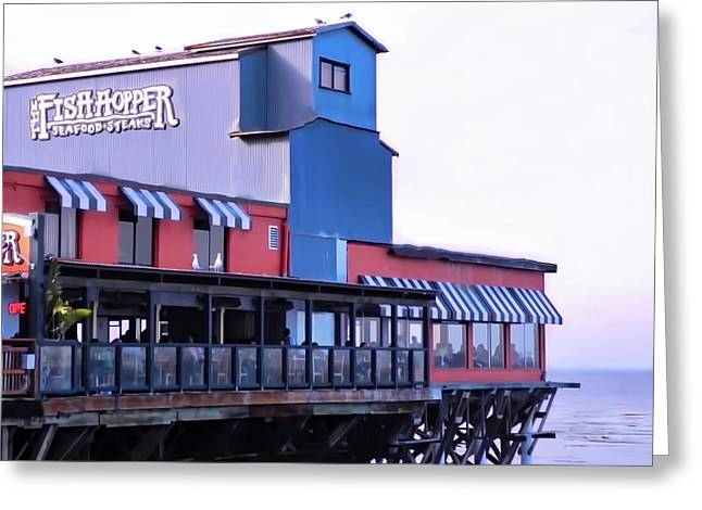 Fish Hopper Restaurant In Monterey Greeting Card by Kirsten Giving