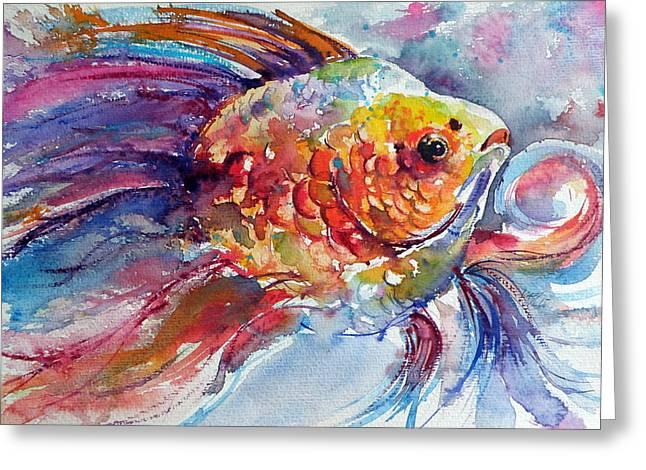 Fish II Greeting Card by Kovacs Anna Brigitta