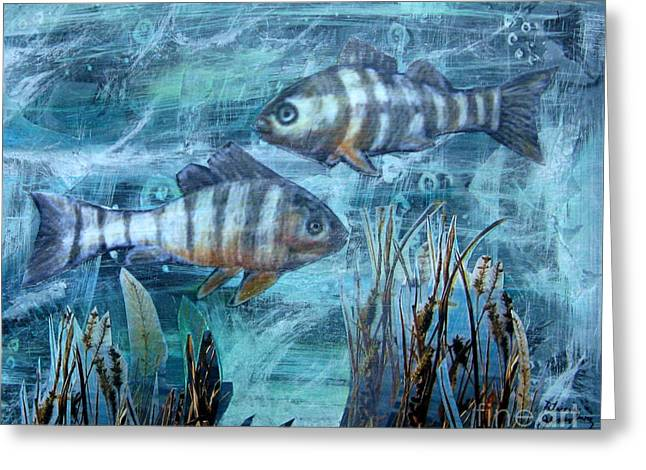 Fish In Icy Water Greeting Card by Patricia Januszkiewicz
