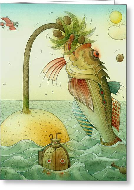 Fish Greeting Card by Kestutis Kasparavicius