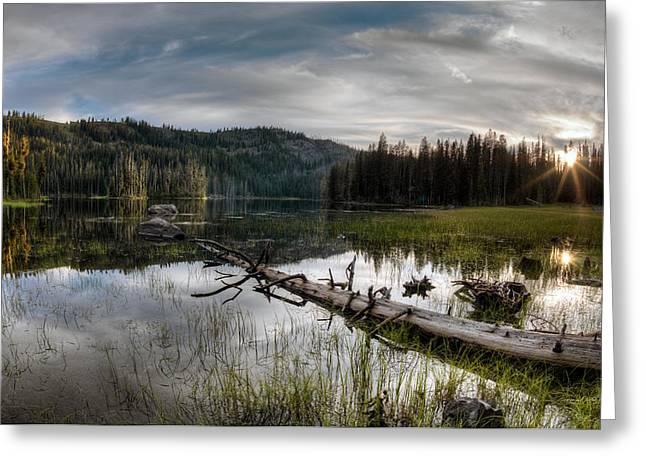 Fish Lake Evening Greeting Card by Leland D Howard