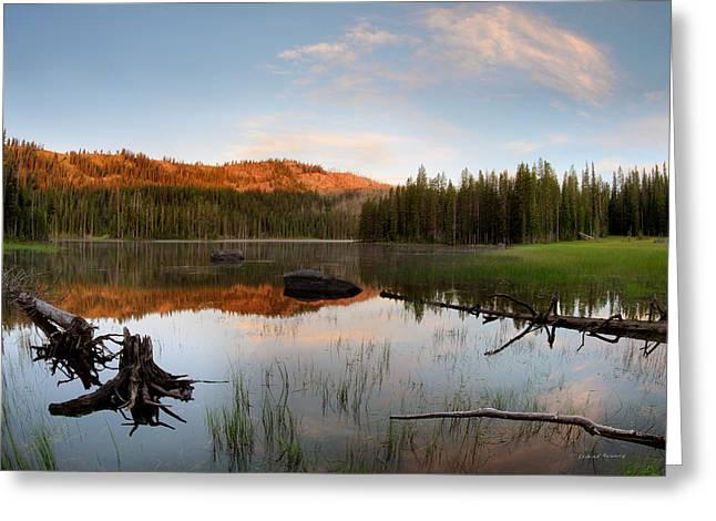 Fish Lake Sunrise Greeting Card by Leland D Howard