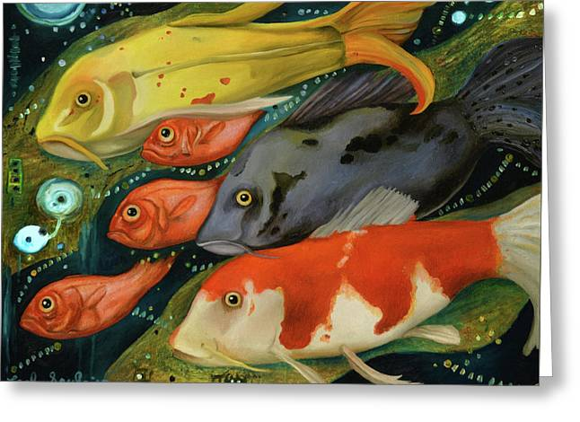 Fish Greeting Card by Leah Saulnier The Painting Maniac