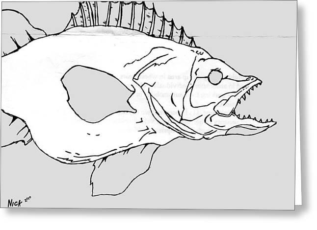 Fish Greeting Card by Nicholas Tullis