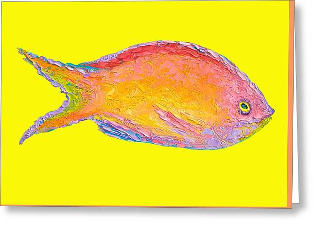 Fish Painting Greeting Card by Jan Matson