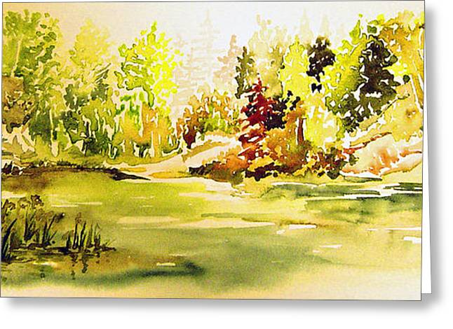 Fish Pond At Nutimik Lake Manitoba Greeting Card