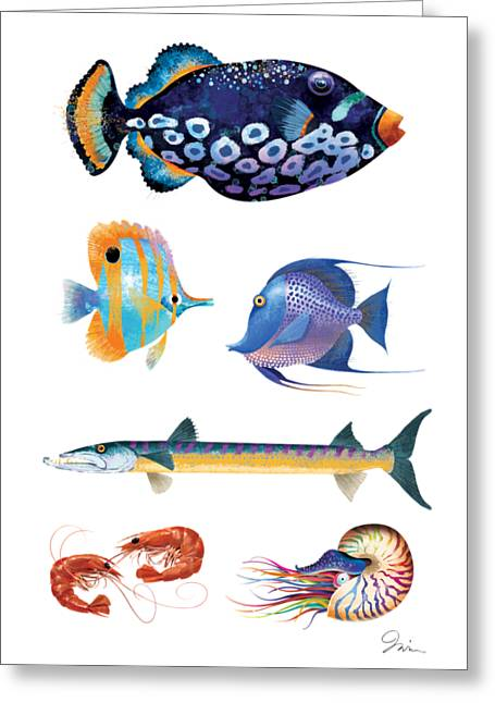 Fish Poster 001 Greeting Card