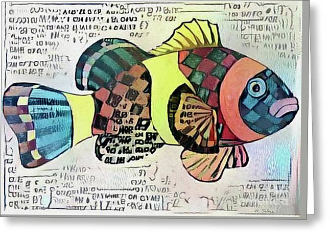 Fish Print One Greeting Card