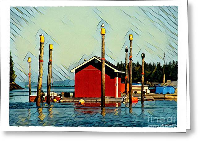Fish Shack, Campobello Greeting Card