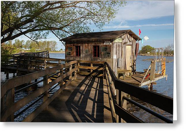 Greeting Card featuring the photograph Fish Shack by Fran Riley