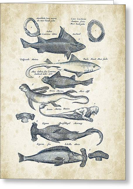 Fish Species Historiae Naturalis 08 - 1657 - 07 Greeting Card