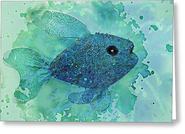 Fish Splash  Greeting Card by ARTography by Pamela Smale Williams