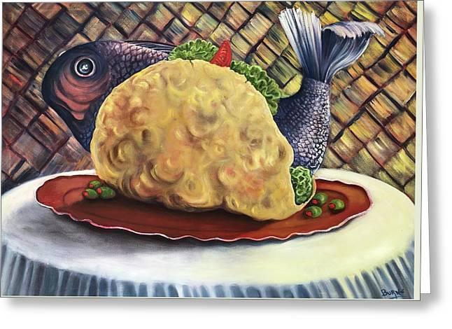 Fish Taco Greeting Card