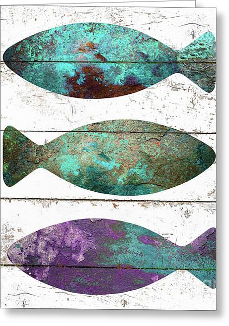 Fish Tales II Greeting Card by Mindy Sommers