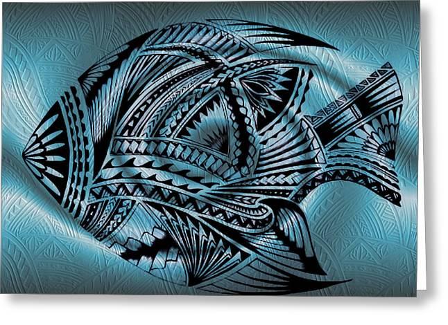 Fish Greeting Card by Tawsh Lav