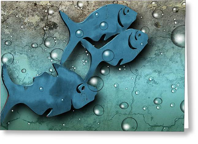 Fish Wall Greeting Card
