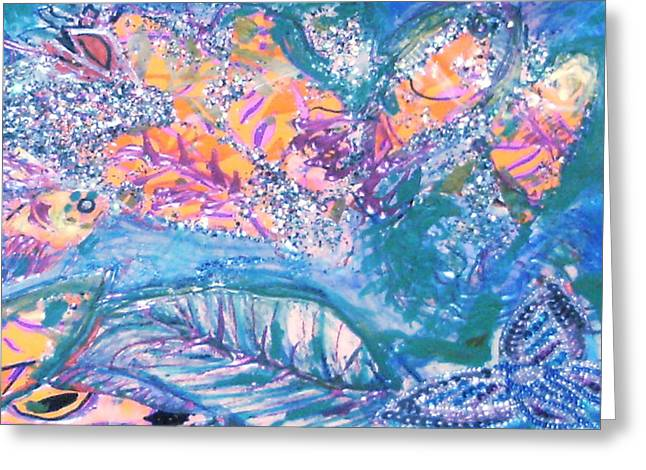 Fish Want To Fly And Butterfly Wants To Swim Greeting Card by Anne-Elizabeth Whiteway