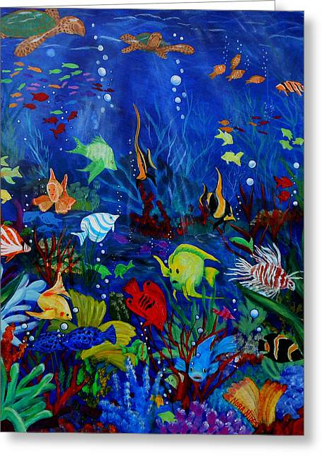 Fish You Dont Feed Greeting Card by Nora Niles