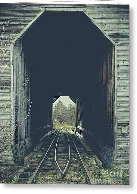 Fisher Covered Railroad Bridge Wolcott Vermont Greeting Card