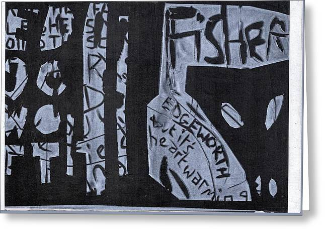 Fisher Covers White On Black Greeting Card