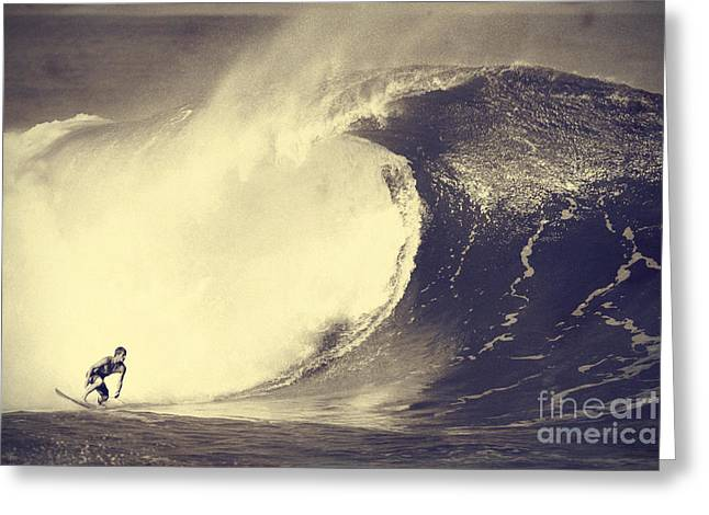 Fisher Heverly At Pipeline Greeting Card by Paul Topp