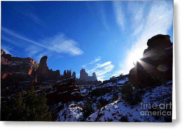 Greeting Card featuring the photograph Fisher Towers by Kate Avery