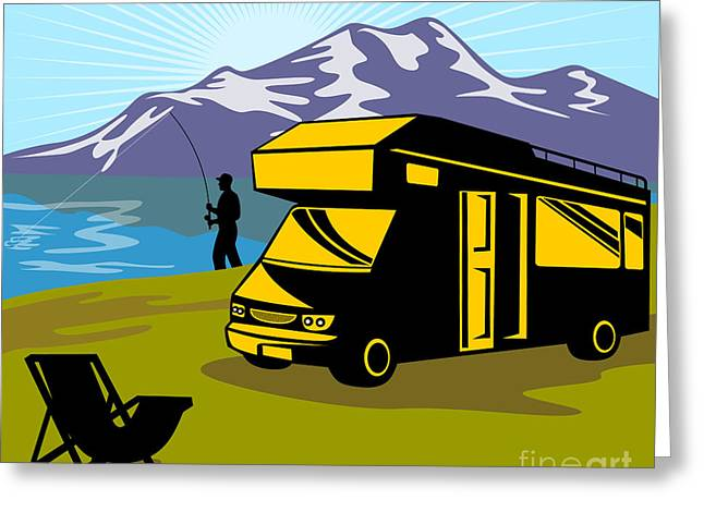 Fisherman Caravan Greeting Card