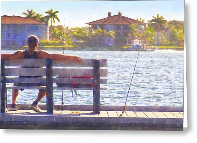 Fisherman Pass A Grille Florida Greeting Card by Glenn Gemmell