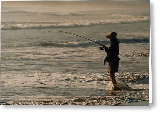 Greeting Card featuring the photograph Fisherman by Steve Karol
