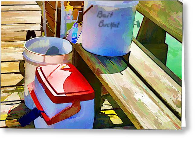Fisherman's Buckets Greeting Card