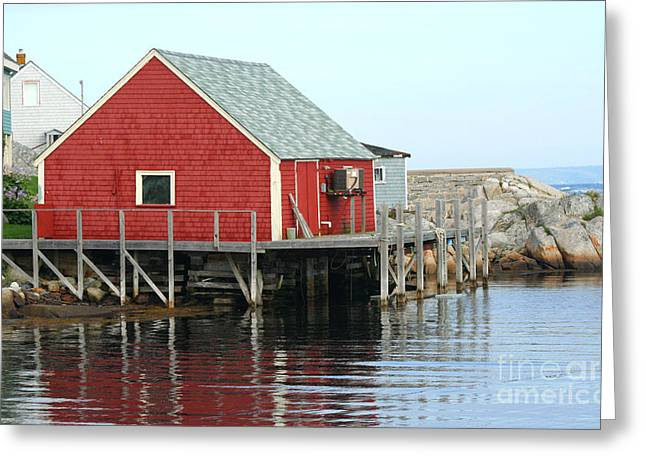 Fishermans House On Peggys Cove Greeting Card