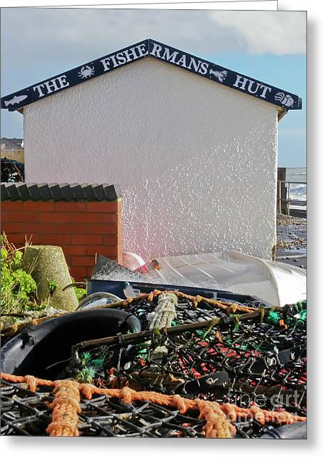 Fishermans Hut, East Wittering Greeting Card