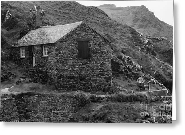 Greeting Card featuring the photograph Fishermans Net Shed by Brian Roscorla