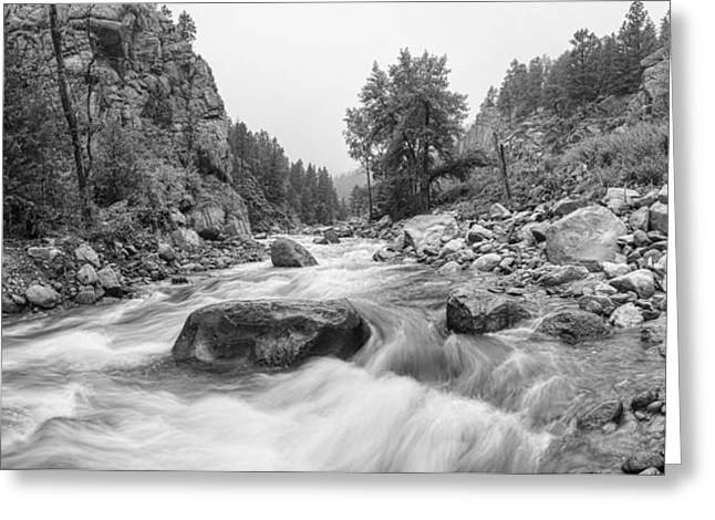 Fisherman's Panorama Colorado Canyon View Bw Greeting Card