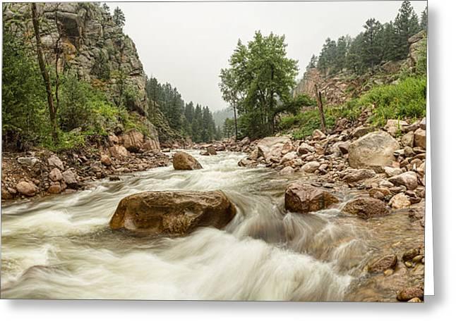 Fisherman's Panorama Colorado Canyon View Greeting Card