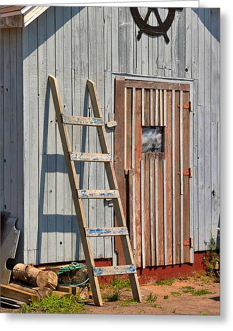 Fisherman's Shed In Prince Edward Island Greeting Card by Louise Heusinkveld