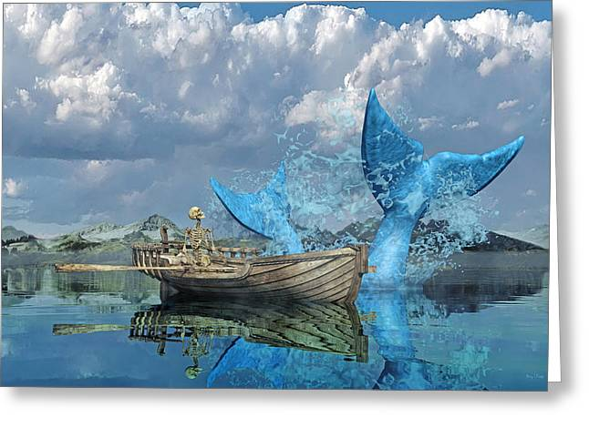 Fisherman's Tale Greeting Card by Betsy Knapp