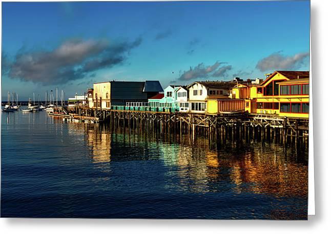 Fisherman's Wharf At Dusk Greeting Card