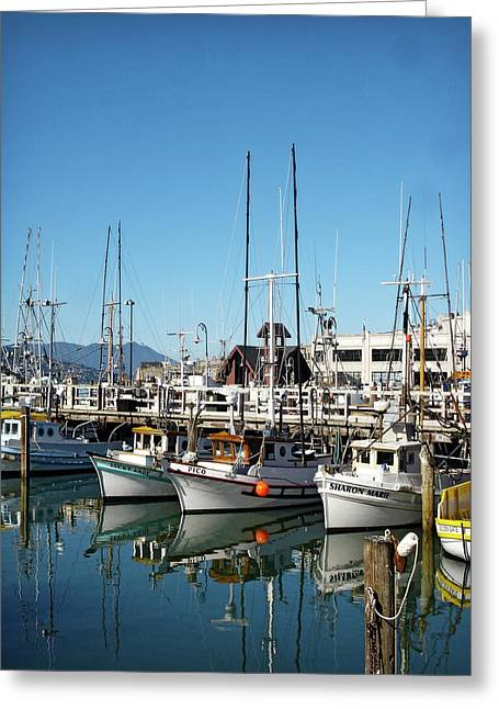 Fisherman's Wharf Greeting Card by Julie Palencia