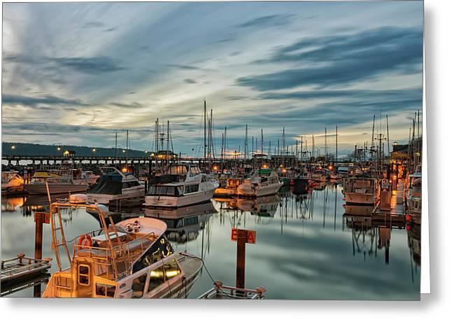 Greeting Card featuring the photograph Fishermans Wharf by Randy Hall