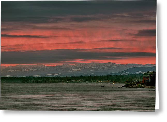 Greeting Card featuring the photograph Fishermans Wharf Sunrise by Randy Hall