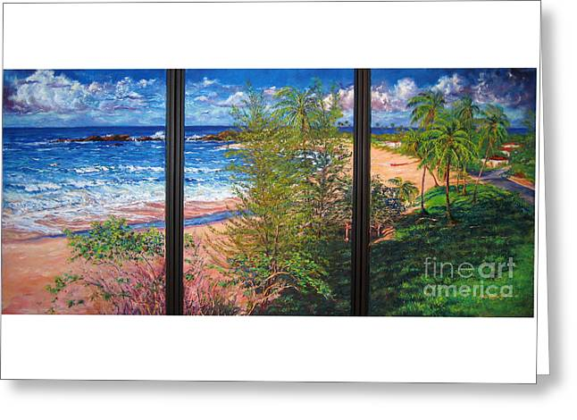 Fishermen's Paradise Greeting Card by Estela Robles