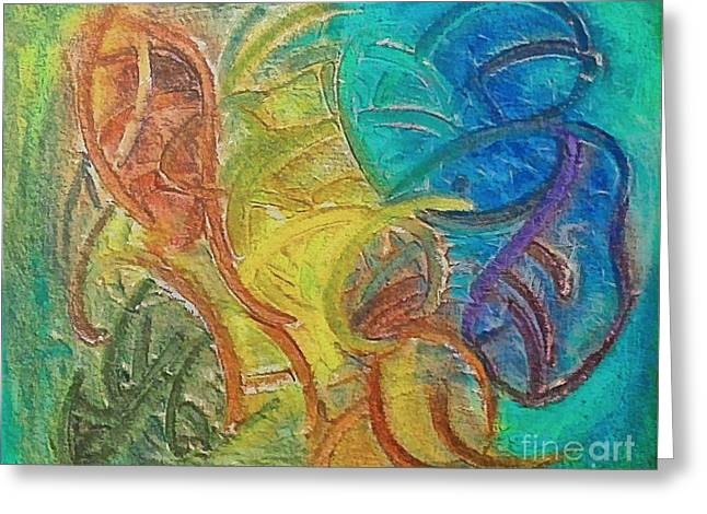 Greeting Card featuring the mixed media Fishes by Dragica  Micki Fortuna